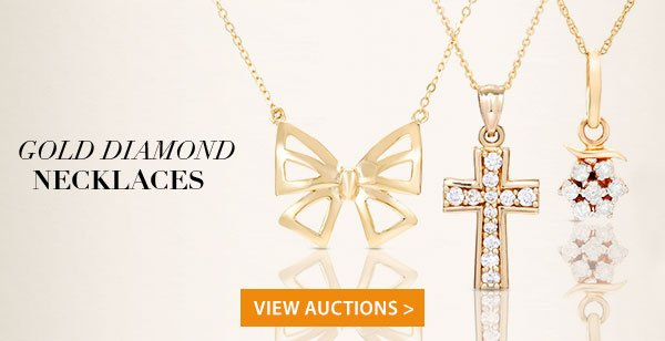 Gold Diamond Necklaces & Pendants