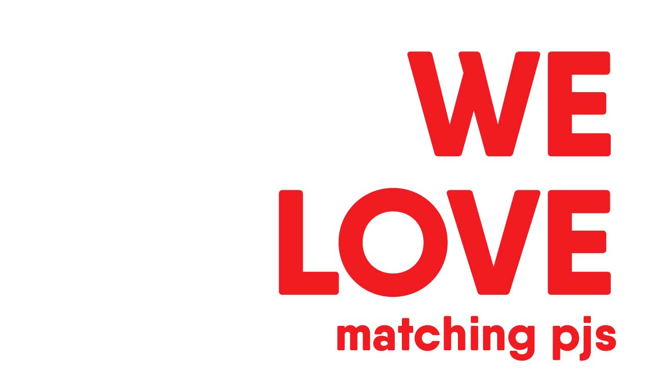 WE LOVE matching pjs