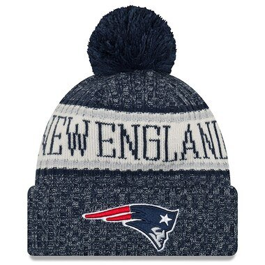 New England Patriots New Era 2018 NFL Sideline Cold Weather Official Sport Knit Hat - Navy
