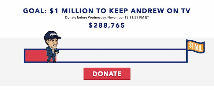 Donate now for our one million dollar goal