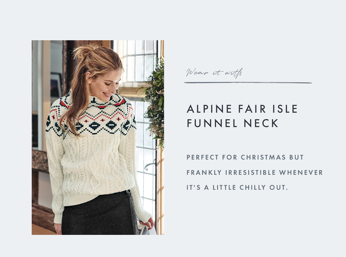 Alpine Fair Isle Funnel Neck