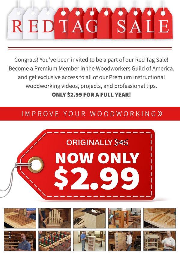 Woodworker's Guild of America $3 Premium Membership