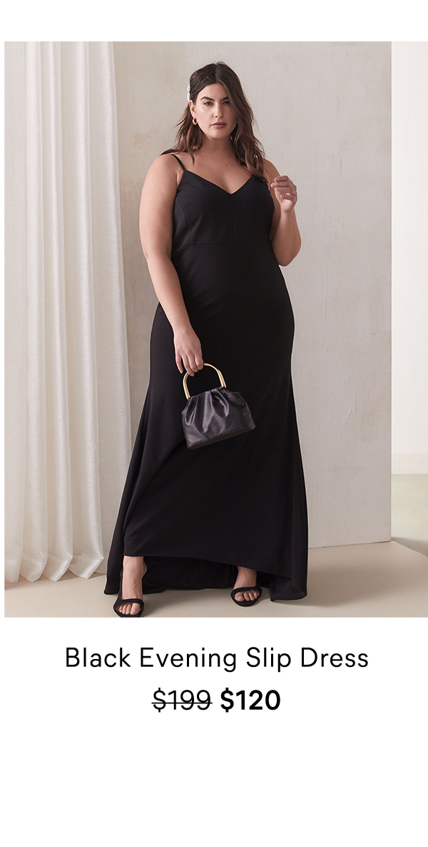 Black Evening Slip Dress $199 $120