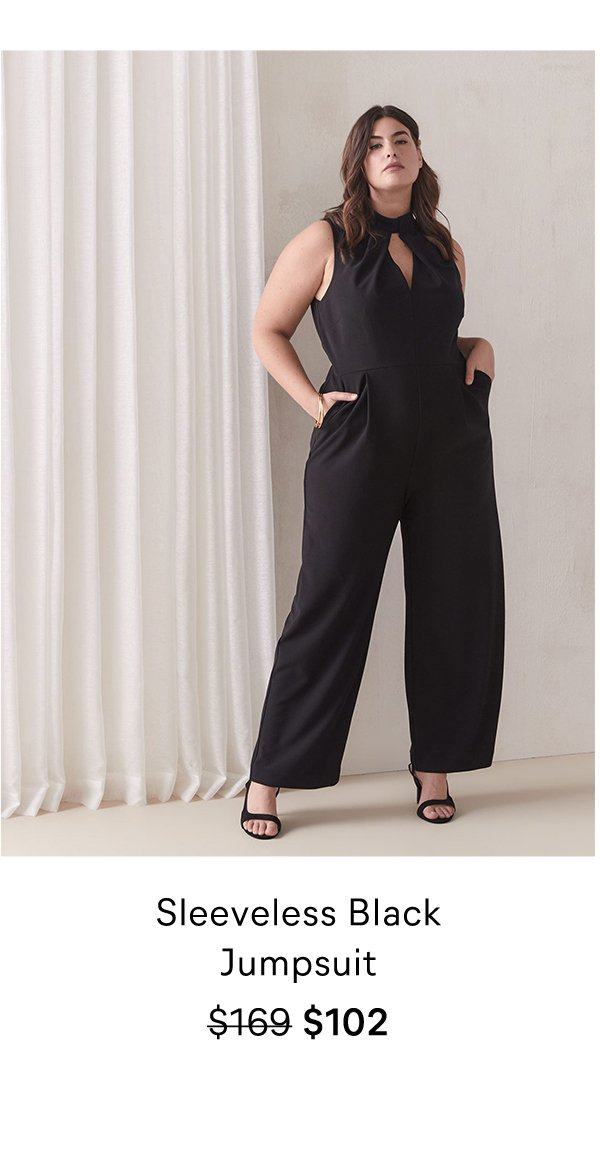 Sleeveless Black Jumpsuit $169 $102