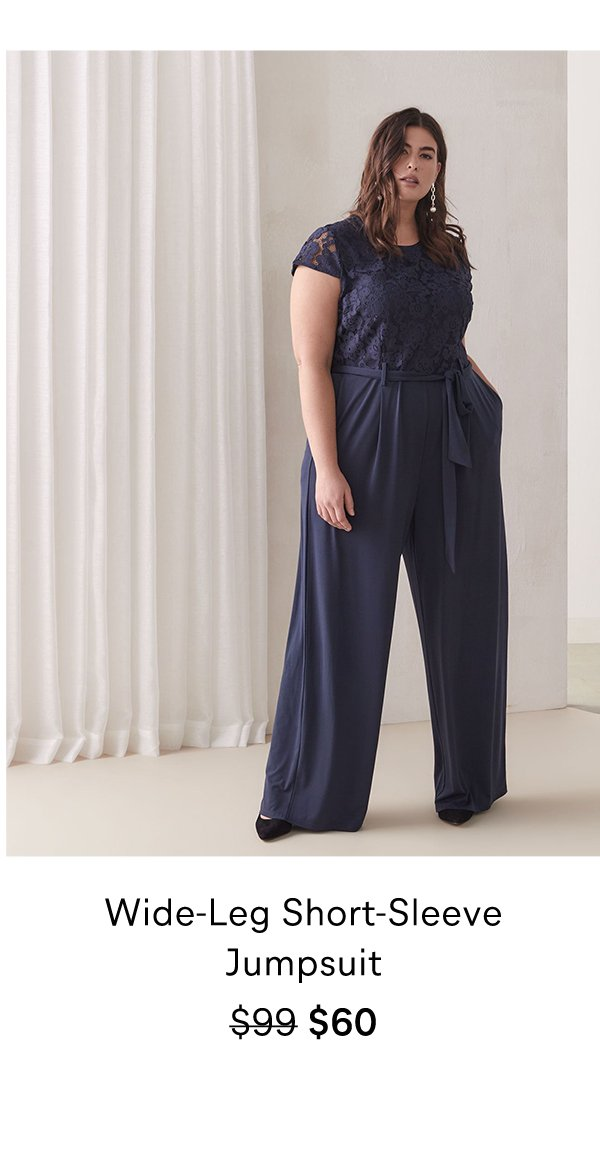 Wide-Leg Short-Sleeve Jumpsuit $99 $60