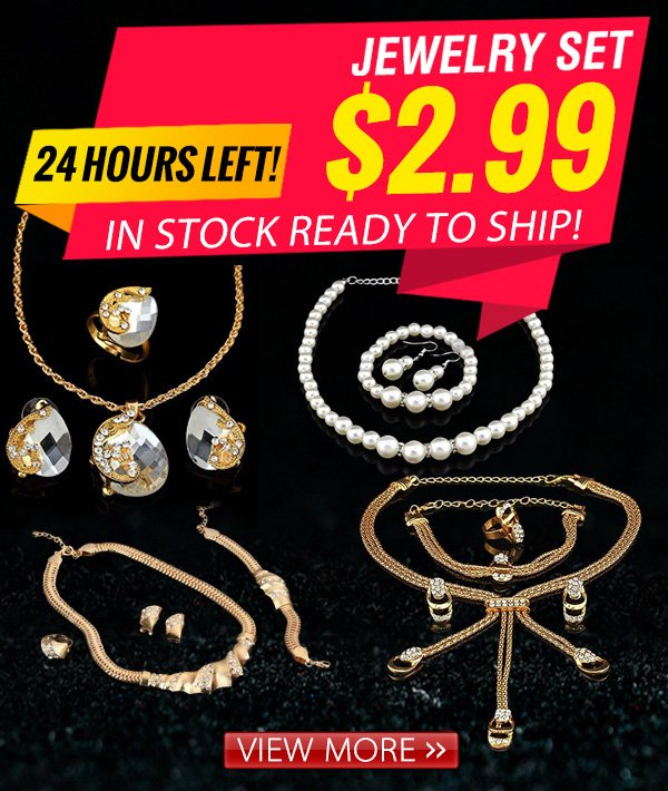 $2.99 14kt gold plated Jewelry Sets. Limited quantity left!