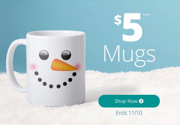 $5 Mugs Ends 11/10