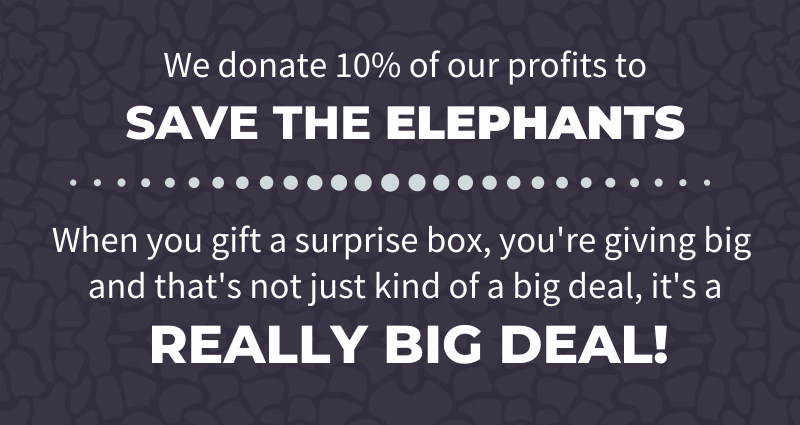 10% of all profits go to Save The Elephants. CLICK HERE to learn more.