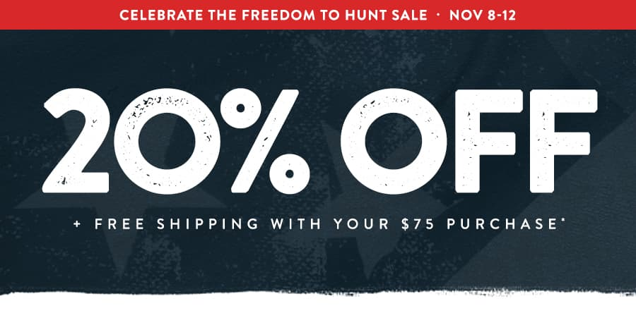 20% Off + Free Shipping WIth Your $75 Purchase