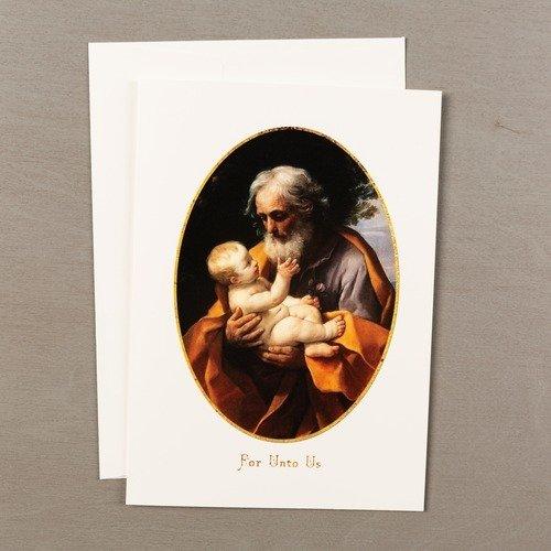 Reni Saint Joseph with the Infant Jesus Christmas Cards