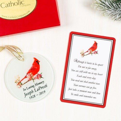 Personalized Cardinal Memorial Ornament