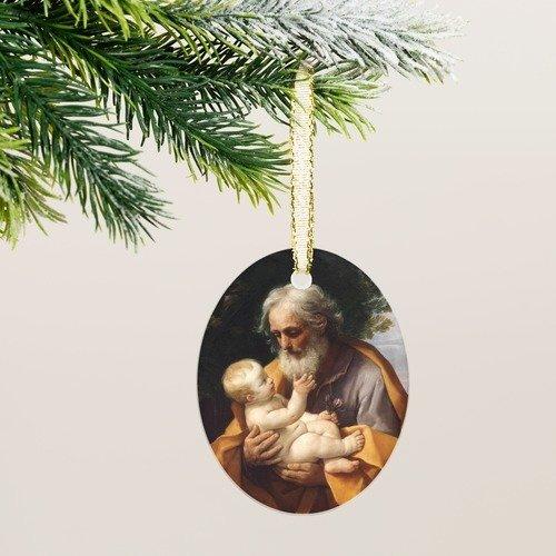 St. Joseph With Infant Jesus Ornament