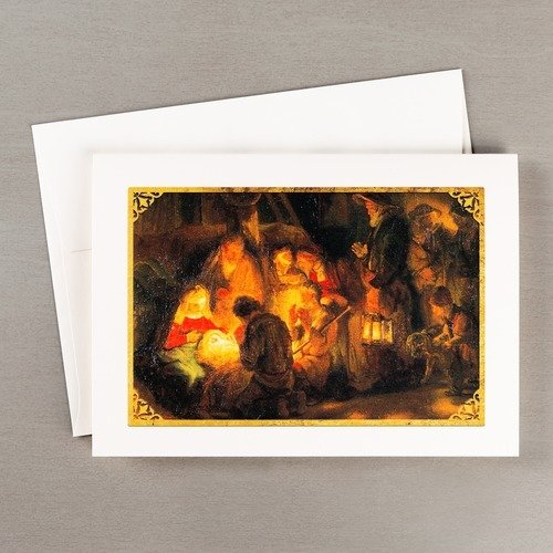 Rembrandt's Pupil Adoration of the Shepherds Christmas Cards