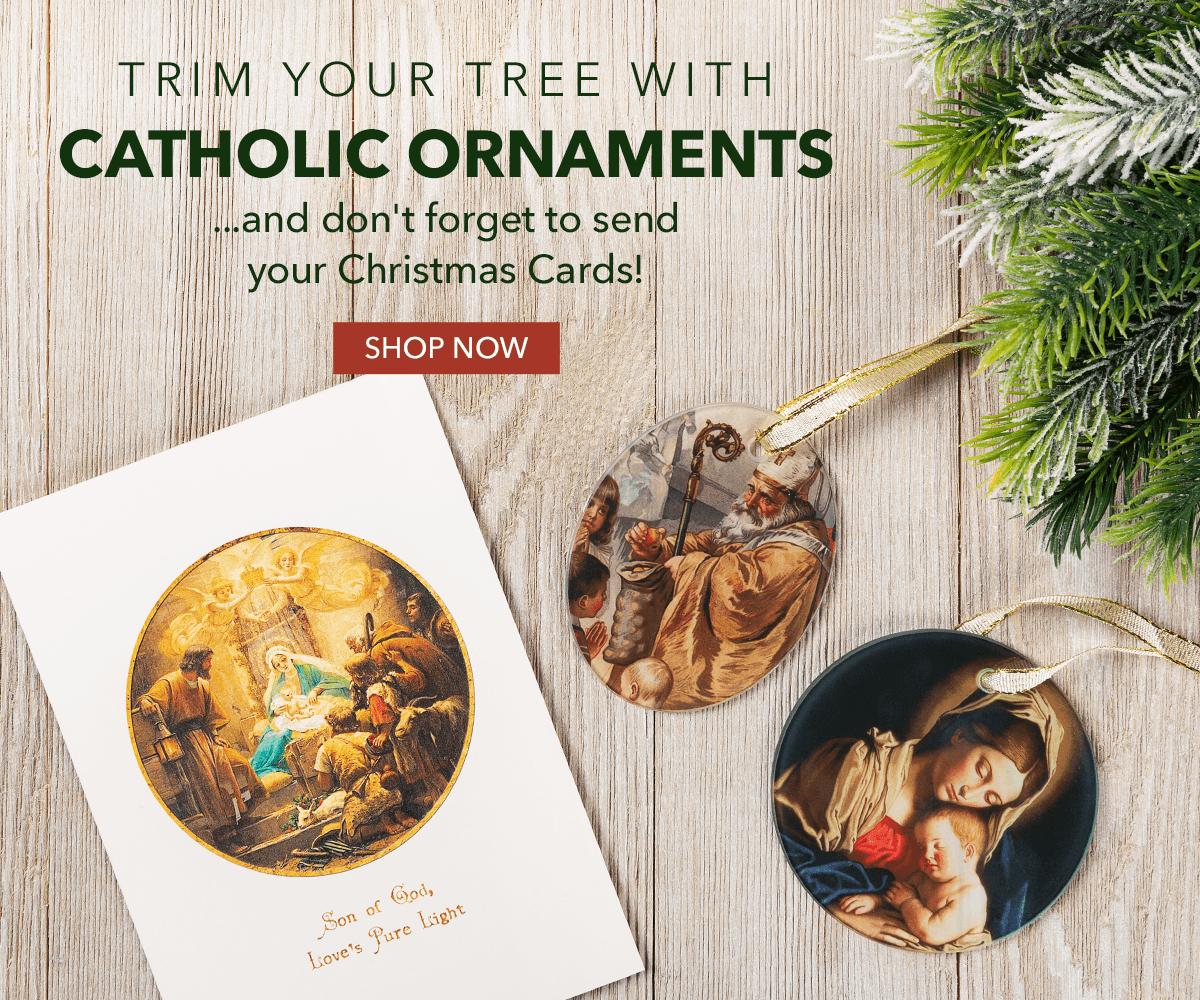 Catholic Christmas Cards & Ornaments