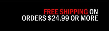 Free Shipping On Orders $24.99 Or More