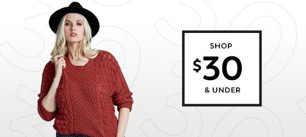 Shop $30 & Under