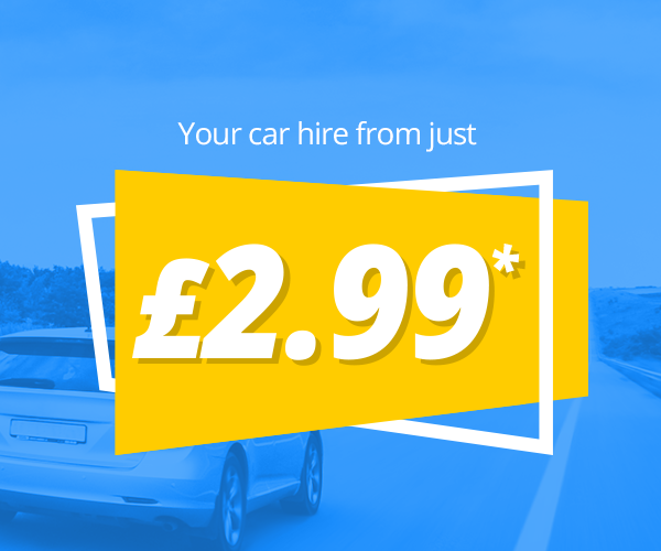 Your car hire from just £2.99