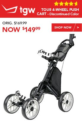 TGW Tour 4-Wheel Push Cart – Discontinued Color