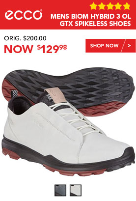 ECCO Mens Biom Hybrid 3 OL GTX Spikeless Golf Shoes