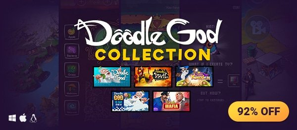 Today's Deal: Doodle God Collection at 92% off