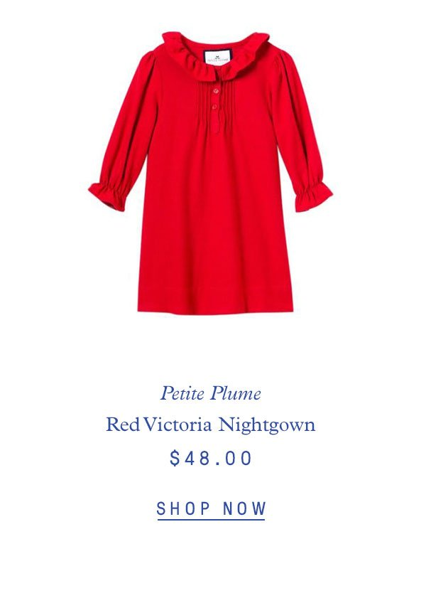 Petite Plume Red Victoria Nightgown $48.00