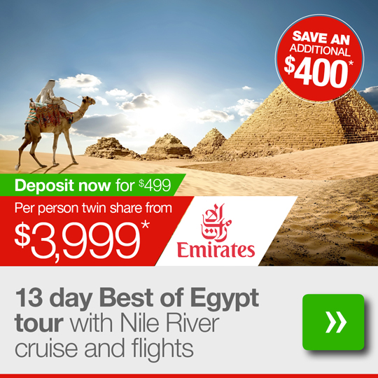 13 day Best of Egypt tour with flights