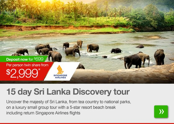 15 day Sri Lanka Discovery tour with 5-star beach break and flights