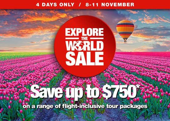 Explore the world sale is on now for 4 days only