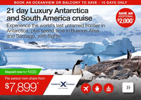 21 day Luxury Antarctica and South America cruise with flights