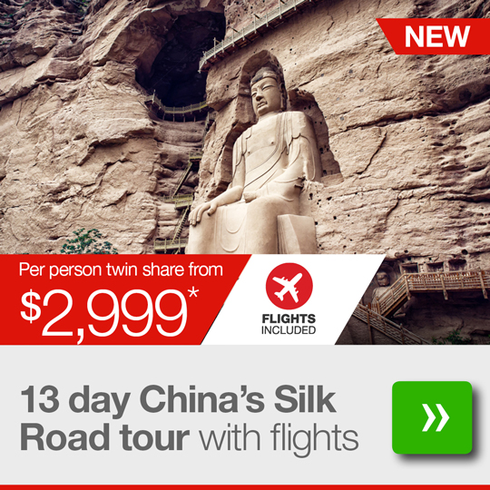 13 day China's Silk Road tour with return flights