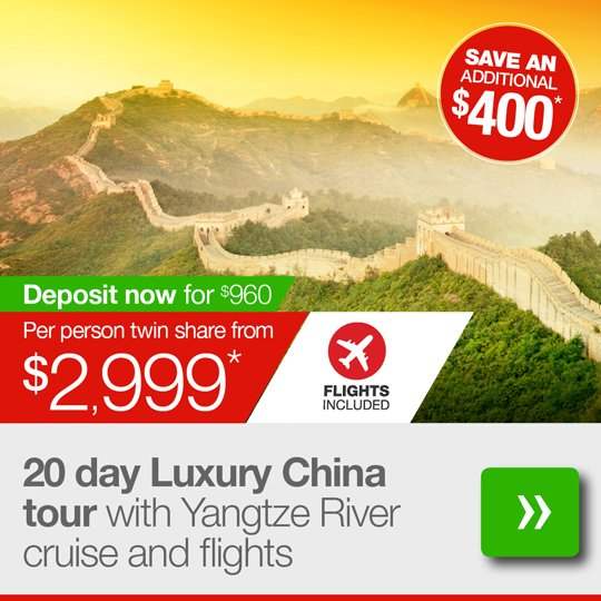 20 day Luxury China tour with flights
