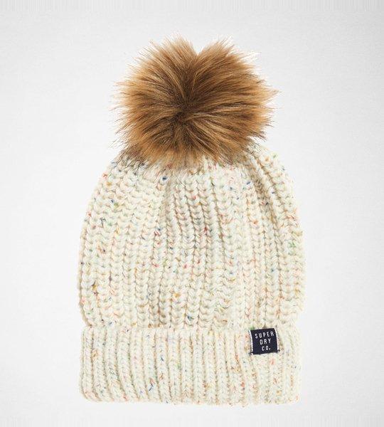 Superdry Zoe Nep Beanie Cream Nep Accessories Hats