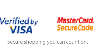 Verified by VISA   MasterCard. SecureCode.   Secure shopping you can count on.