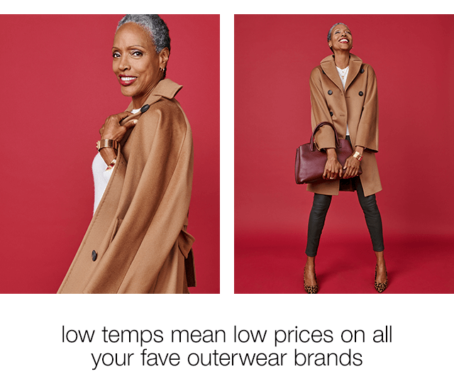 Low Temps Mean Low Prices on All Your Fave Outerwear Brands