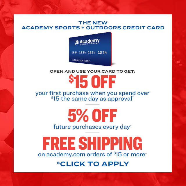 Apply for the Academy Sports + Outdoors Credit Card