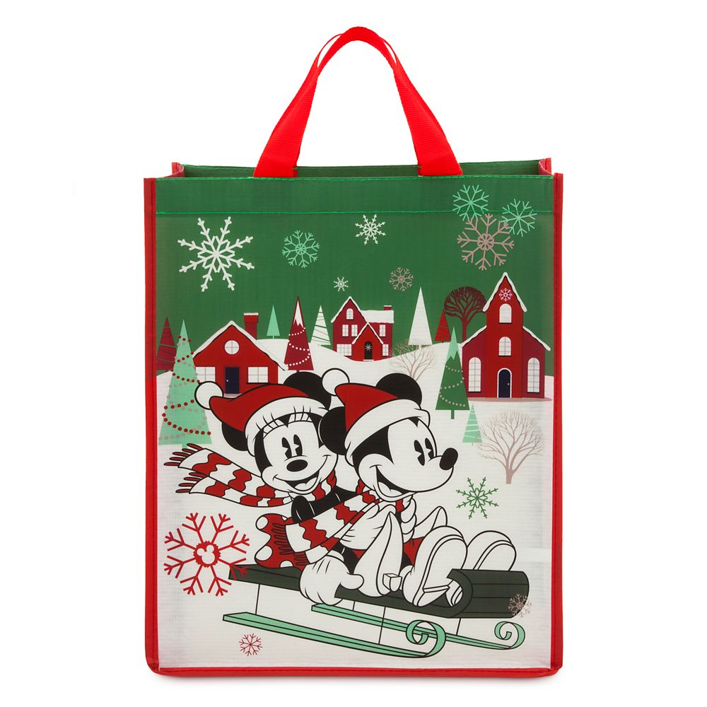 Mickey and Minnie Mouse Reusable Holiday Tote