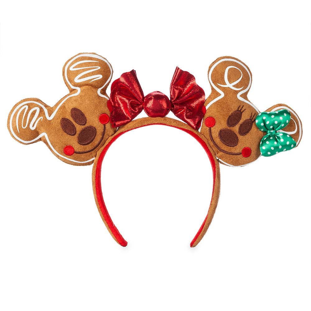 Mickey and Minnie Mouse Gingerbread Ear Headband