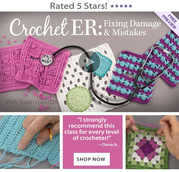 Learn how to fix crochet damage & mistakes!