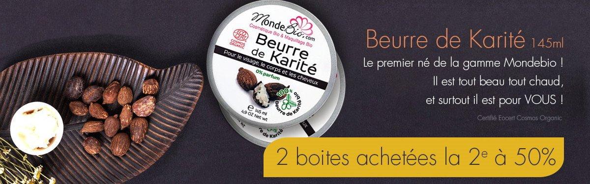 Venez Profiter de 25% de remise sur le lot de 2 beurre de karité bio 2x145ml !