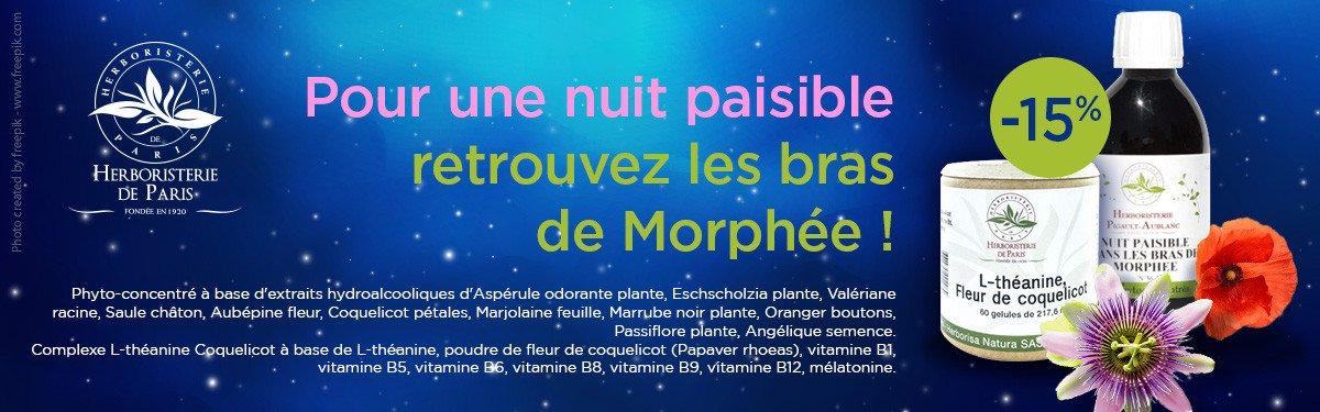 Venez Profiter de 15% de remise sur la gamme nuit paisible Herboristerie de paris !