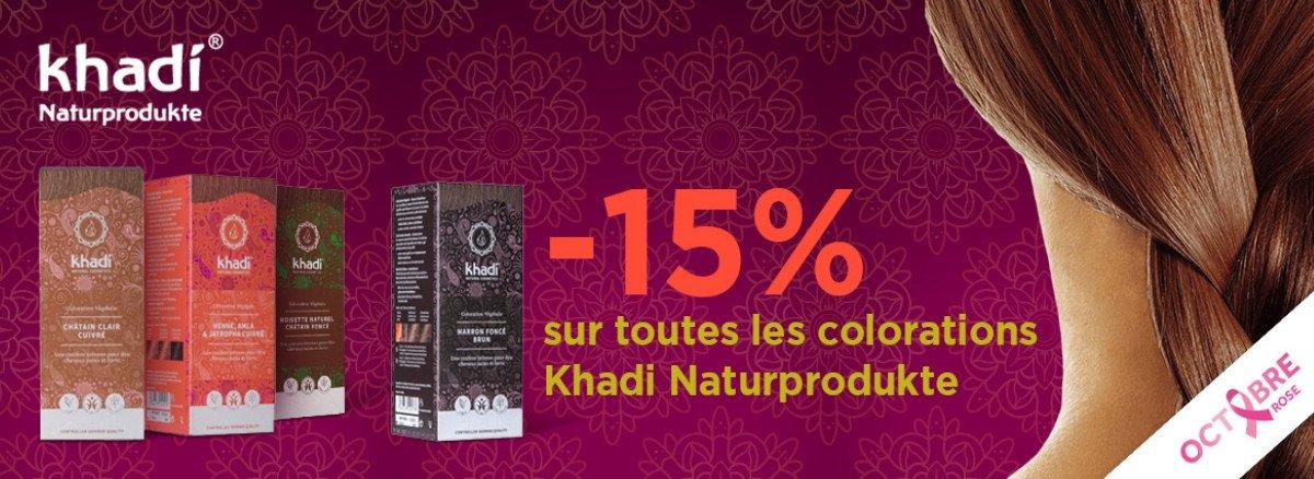 Venez Profiter de 15% de remise sur la gamme Khadi colorations vegetales !