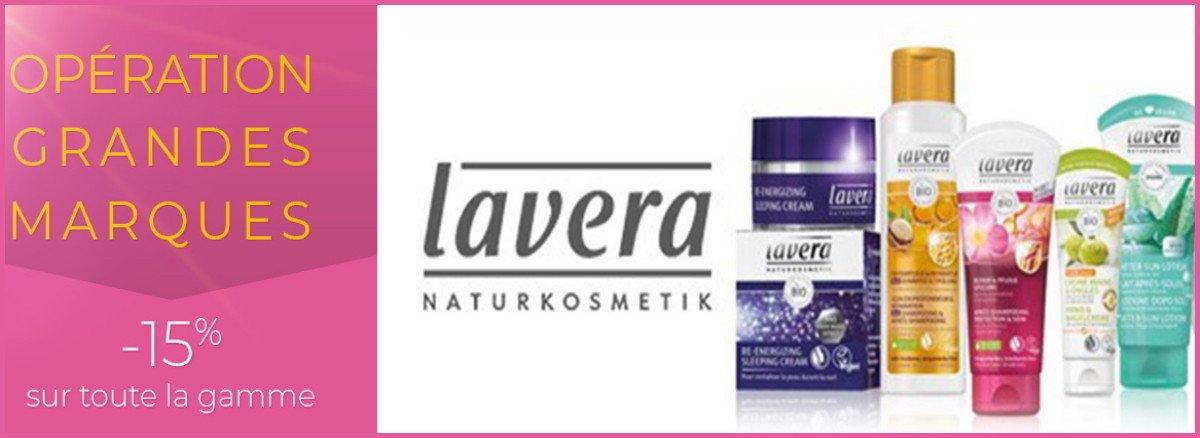Venez Profiter de 15% de remise sur la gamme Lavera !