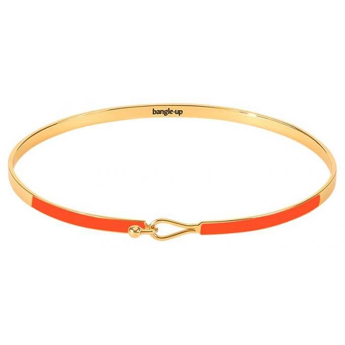 Bracelet Bangle Up BUP10-LIL-BFA80 -  Lily Tangerine fermoir goutte métal doré et émail  Femme