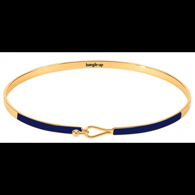 Bracelet Bangle Up BUP10-LIL-BFA44 -  Lily Bleu Nuit fermoir goutte métal doré et émail  Femme