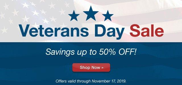 Veteran's Day Sale — Savings up to 50%