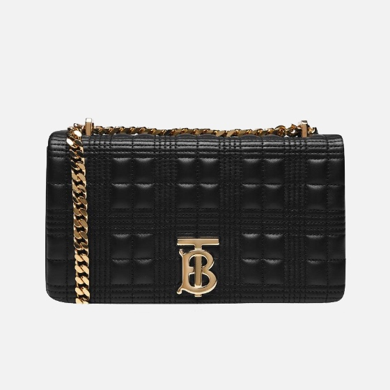 Burberry - Small Horseferry Print Quilted Lola Check Bag