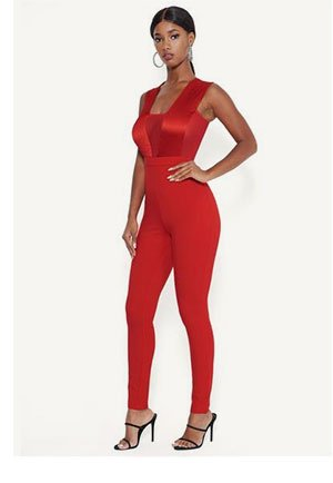 Pleated Bodice Catsuit