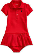 Baby Girl Pleated Polo Dress & Bloomer