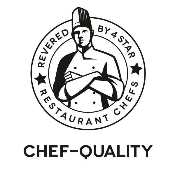 Chef-Quality: Revered By 4 Star Restaurant Chefs