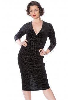 Sparkle Velour Retro Dress